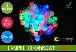 Ecolamp lampki Choinkowe Kulki 50 Led 5m Multikolor 198