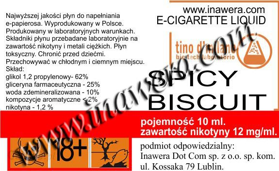 Inawera E-LIQUID SPICY BISCUIT 12 mg/ml