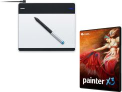Corel Painter X3 ENG Box Win/Mac + TABLET Wacom Intuos Pen S (Small) (CTL-480S-RUPL)