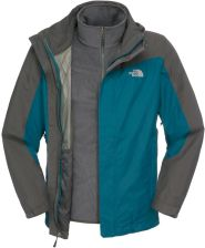 The North Face M zephyr Triclimate Jacket Prussian Blue/Asphalt Grey XXL