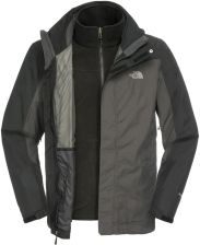 The North Face M zephyr Triclimate Jacket Asphalt Grey/Black 3XL