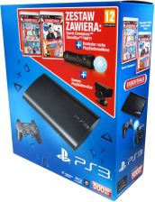 Sony Playstation 3 500GB + Move + kamera + Dance Star Party + Sports Champions