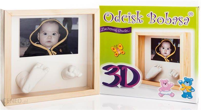Odcisk Bobasa Ramka 3D Rączki Nóżki 3006
