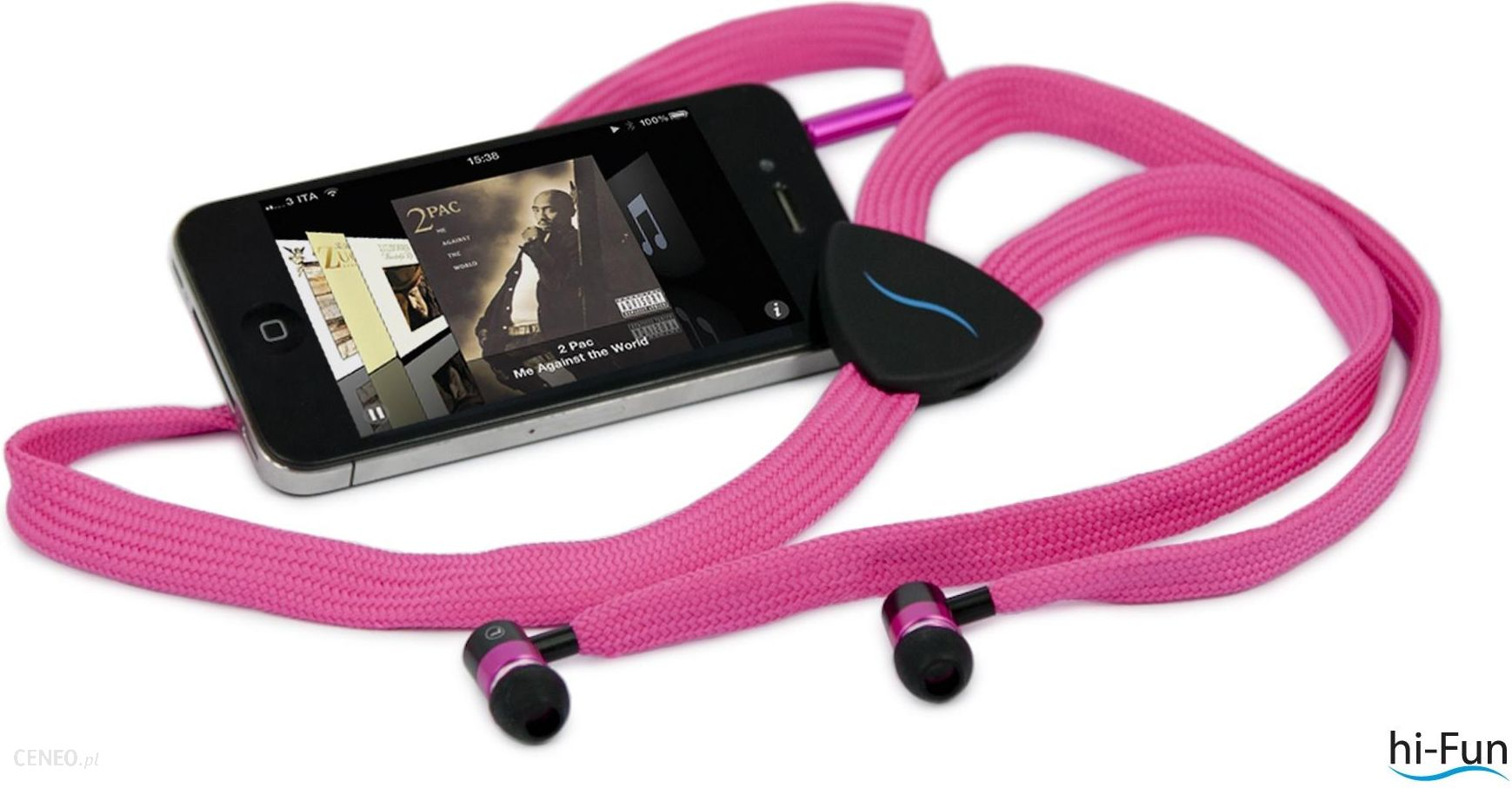 Hi-Fun Słuchawki Hi-String różowe (HFHISTRING-PNK)