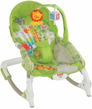 Fisher-Price Zielony Fotelik-Bujaczek do 18 kg BCD28