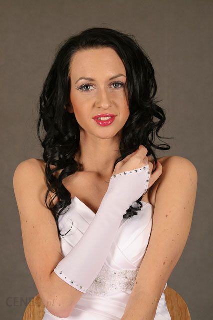 Rękawiczki ślubne r44