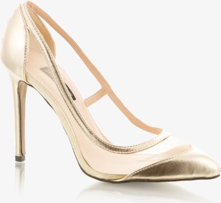 Szpilki Dulce Candy Gold Pointed Heels