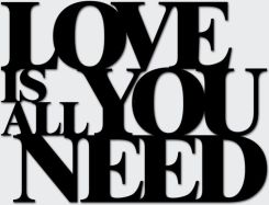 Napis na ścianę LOVE IS ALL YOU NEED czarny LIAYN1-1