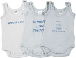 KANZ Boys Baby Body dziecięce white/light blue 3 szt.