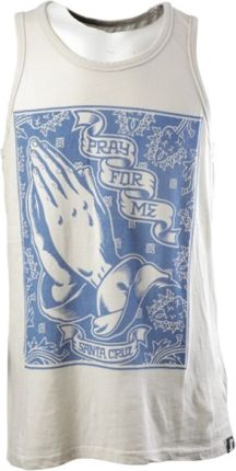 Top SANTA CRUZ - PRAYING HAND VINTAGE WHITE (VIN WH) size: XL