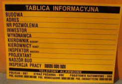 Tablica budowlana informacyjna