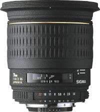 Sigma 20mm f/1.8 EX DG Asp. RF Sony/Minolta