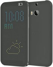 HTC Dot Flip Case HC M100 gray do HTC One M8 (4718487645602)