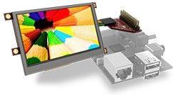 """4D Systems Moduł wyświetlacza HMI uLCD 4.3"""" Raspberry PI (343-43PT-PI)"""