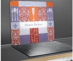 WENKO Szklana płyta ochronna DINNER DELUXE na kuchenkę – duża