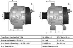 Alternator DENSO DAN941