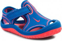 Sandały NIKE - Sunray Protect (Td) 344925 406 Military Blue/Laser Crimson