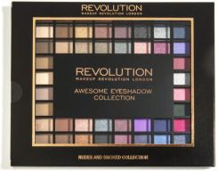 Makeup Revolution Palette Nudes and Smoked Collection Paleta 100 cieni do powiek