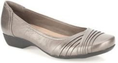 Clarks Baleriny Albury Pixie Pewter Leather