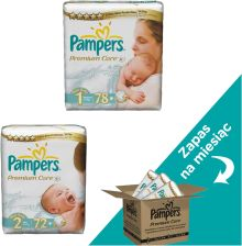 Pampers Premium Care 1 Newborn + 2 Mini - 222szt