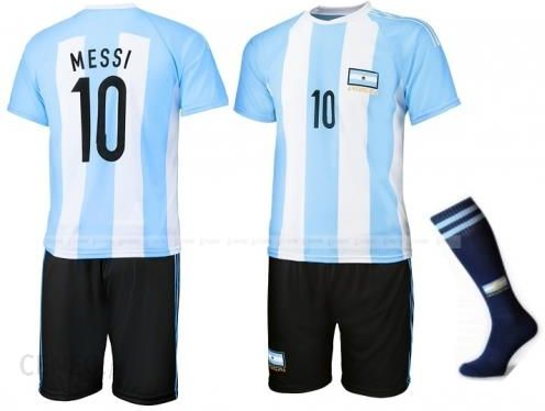 Messi - Argentyna - strój piłkarski ze skarpetami