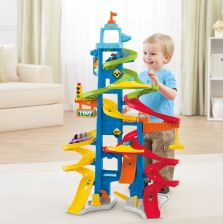 FISHER PRICE Little People Wheelies - Zjeźdźalnia dla autWieźowiec BGC34