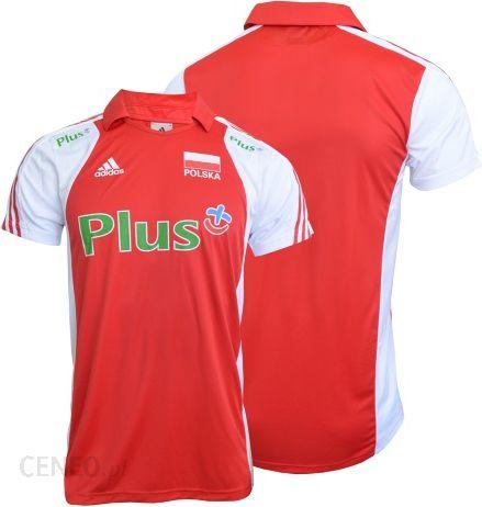 Koszulka siatkarska Adidas Polo M z logo Plusa (E86466)
