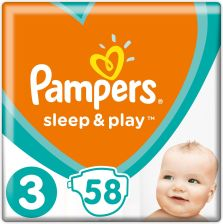 Pampers Pieluchy Sleep&Play Midi 4-9 Kg (58 Szt.)