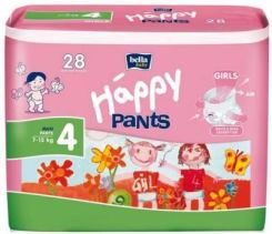Bella Baby Happy Pants Pieluszki 4 Maxi 7-15 Kg (28 Szt.) Girls
