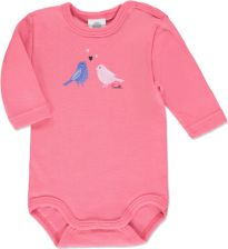 SANETTA Girls Baby Body dziecięce BIRDS rose