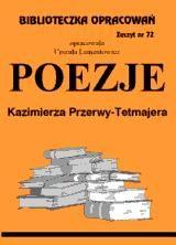 Poezje - Przerwa-Tetmajer / opracowanie zeszyt 72