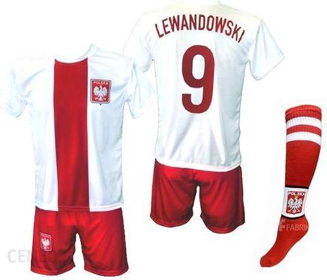 Lewandowski - Polska - strój komplet piłkarski ze skarpetami