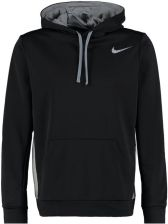 Nike Performance Bluza z kapturem black/dark grey heather/cool grey