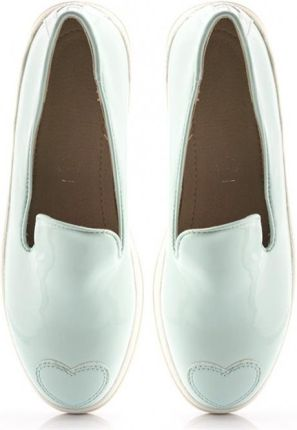 Miętowe Slip On Cute Mint Heart Slip On