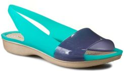 Sandały CROCS - Colorblock Flat W 200032 Tropical Teal/Nautical Navy