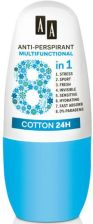 Aa Anti-Perspirant Multifunctional 8In1 Cotton 24H Dst Roll-On Antyperspirant 50ml - zdjęcie 1