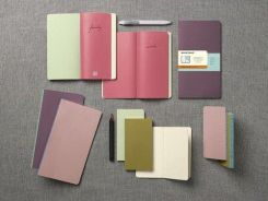 Moleskine Notes Chapters Slim Journal Pocket w kropki purpurowy