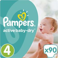 Pampers Active Baby-Dry 4 Maxi (7-14kg)  90 szt.