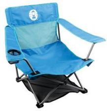 Coleman Fotel Low Quad Chair Niebieski