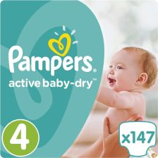Pampers Active Baby-Dry 4 Maxi (7-14kg)  147 szt.