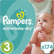 Pampers Active Baby-Dry 3 Midi (4-9kg) 174szt.