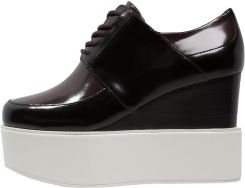 DKNY STEPH Botki na koturnie black/beet red