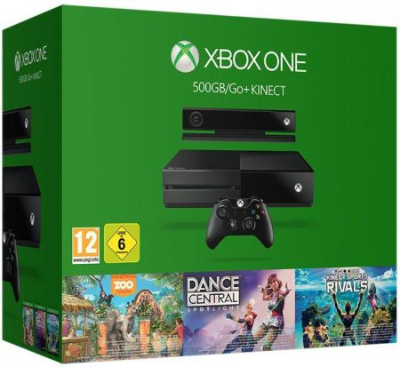 Microsoft Xbox One 500GB + Kinect + Sports Rivals + Dance Central + Zoo Tycoon