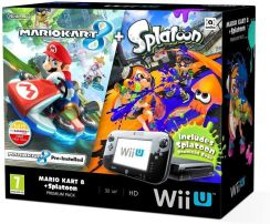Nintendo Wii U Premium Pack 32 GB + Mario Party 10 + Mario Kart 8