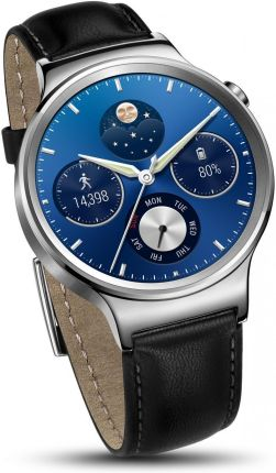Huawei Watch Stainless Steel + Black Leather