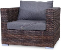 Gardinetta Fotel z technorattanu LIGURITO Brown Elite & Grey