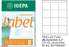Igepa Label Multipurpose 70x67,7