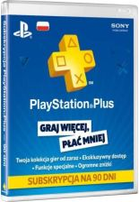 Produkt z outletu: SONY PlayStation Plus Cards 90 dni
