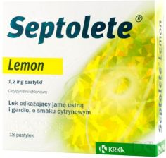 Septolete Lemon 18 pastylek