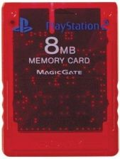 Memory Card (8MB) Sony Crimson Red (PlayStation 2)